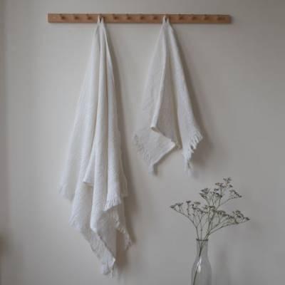 Vohvelipyyhe 2 kpl 50 x 70 cm valkoinen